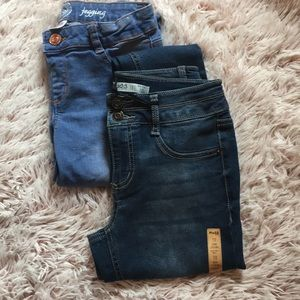 Girls jeans and jeggings size 12. 2/$10